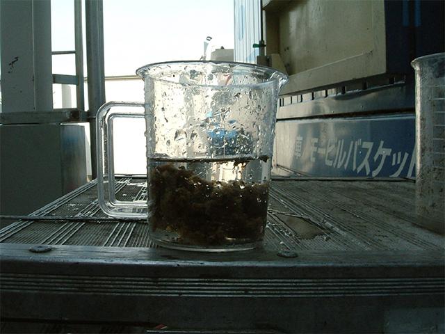凝集剤添加ビーカーテスト